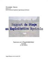 poignonec rapport de stage en exploitation agricole exploitation de ...